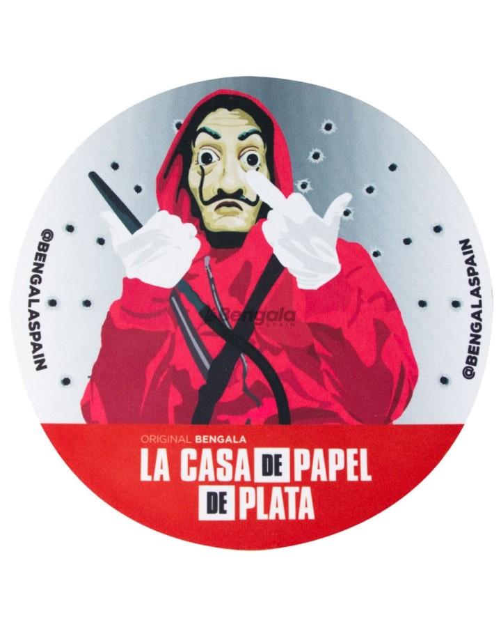 ALFOMBRILLA PROTECTORA CASA DE PAPEL DE PLATA