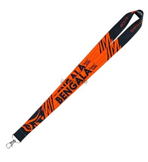 LANYARD BENGALA SPAIN BLACK ORANGE